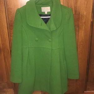 Beautiful women's green pea coat!